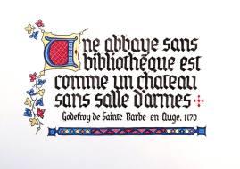 Enluminure et calligraphie typique de la période gothique. Cette enluminure est une création personnelle.