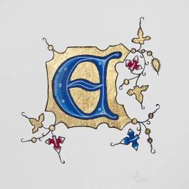 Période gothique, souvent reconnaissable à la lettre colorée, au fond en or et à la présence de fleuronnés.