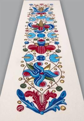 Ce signet est une adaptation d'une frise fleurie inventée par l'enlumineure française, Claire Travers.