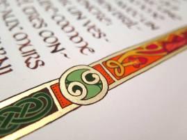 Détail d'un médaillon, typiquement celtique.