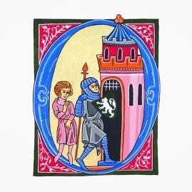 Adaptation du manuscrit Lancelot du Lac. Période gothique.