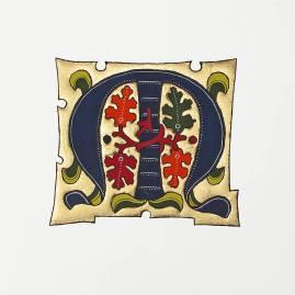 Période gothique, reconnaissable lorsque la lettre est colorée et le fond en or.