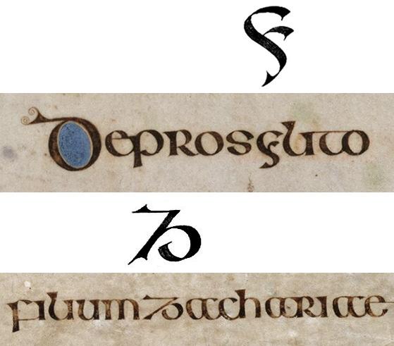 semi-onciale irlandaise_lettre Y et Z_folio 15v