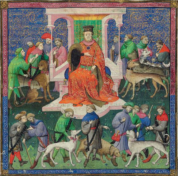 le livre de la chasse Gaston-Phoebus-1331-1391-Le-Livre-de-la-chasse-Detail